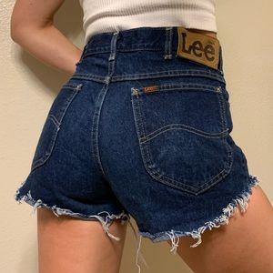 Vintage Lee high rise cut off shorts